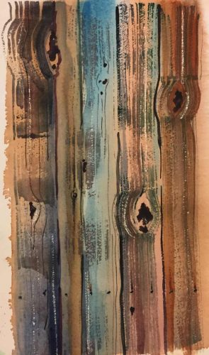 creating wood texture in watercolor