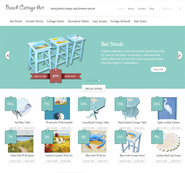 New Web Site – Beach Cottage Art.com