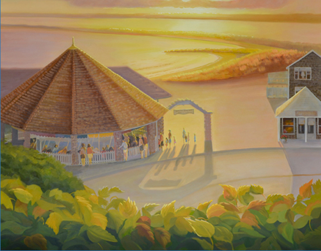 Update on the Watch Hill Carousel Oil Painting