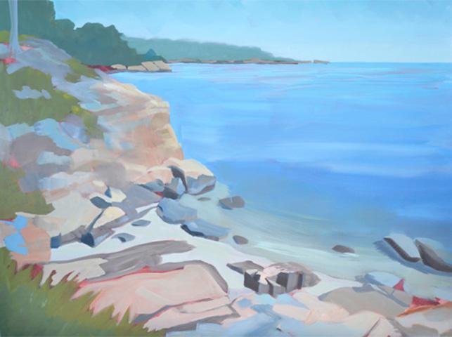 Painting Rocky Shore Seascape-Follow Along