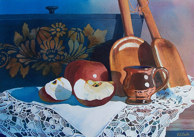 """Apples and Lace"" Still Life"
