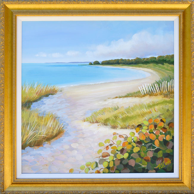 Latest Shoreline Painting by P.J. Cook and Watercolor Lessons Starting Wednesday