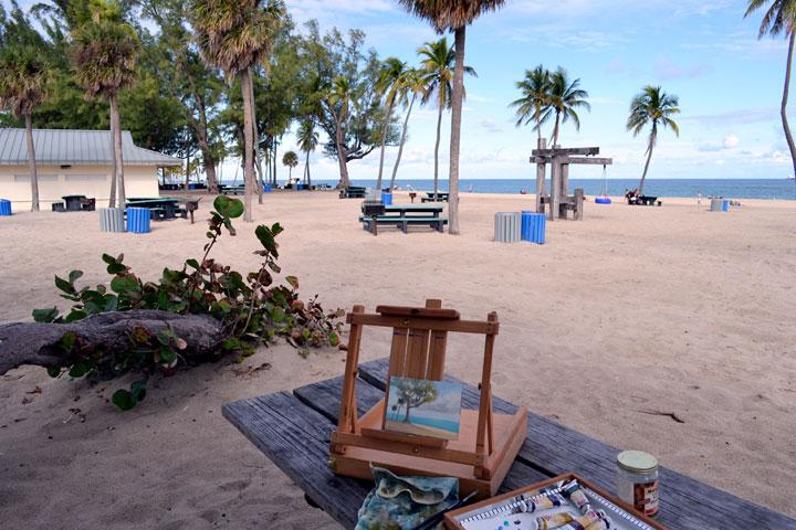 Plein Air Painting at Fort Lauderdale Beach