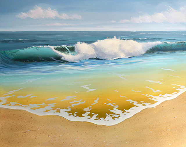 Seascape Oil Painting – Next Step In Painting Ocean Wave in Oil
