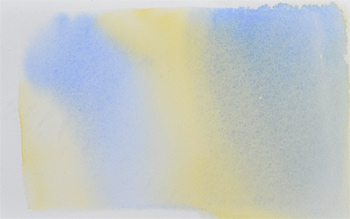 example of a varigated wash in watercolor paint.