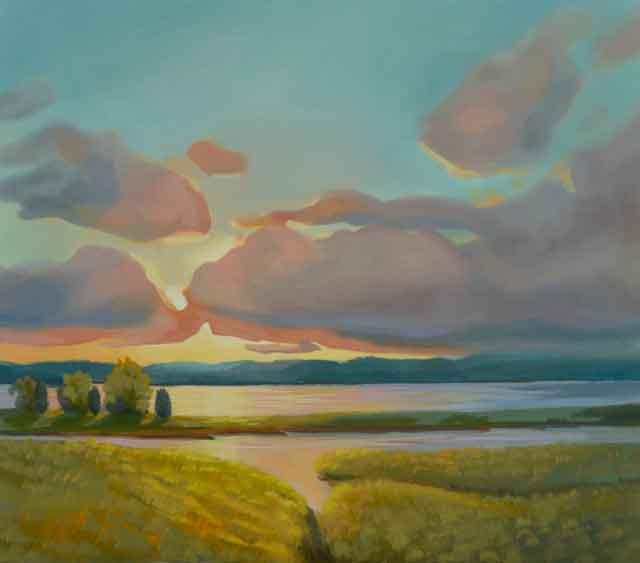 """Sunset On the Marsh"" New Oil Painting!"