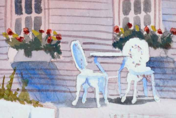 Beach House Watercolor