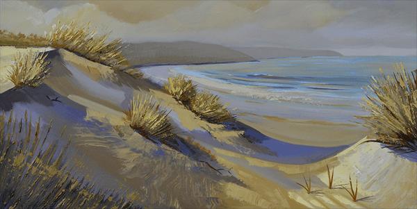 sand dunes original oil painting by artist PJ Cook