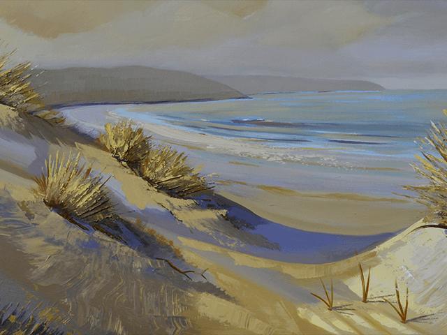 Sand Dunes Aglow-Original Oil Painting