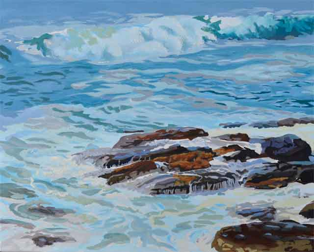 Ocean Wave Painting Underway by PJ Cook