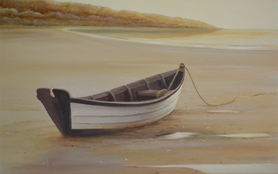 """Awaiting the Tide"" Original Marine Painting"