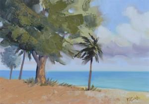 Fort Lauderdale beach plein air oil painting by artist P.J. Cook.