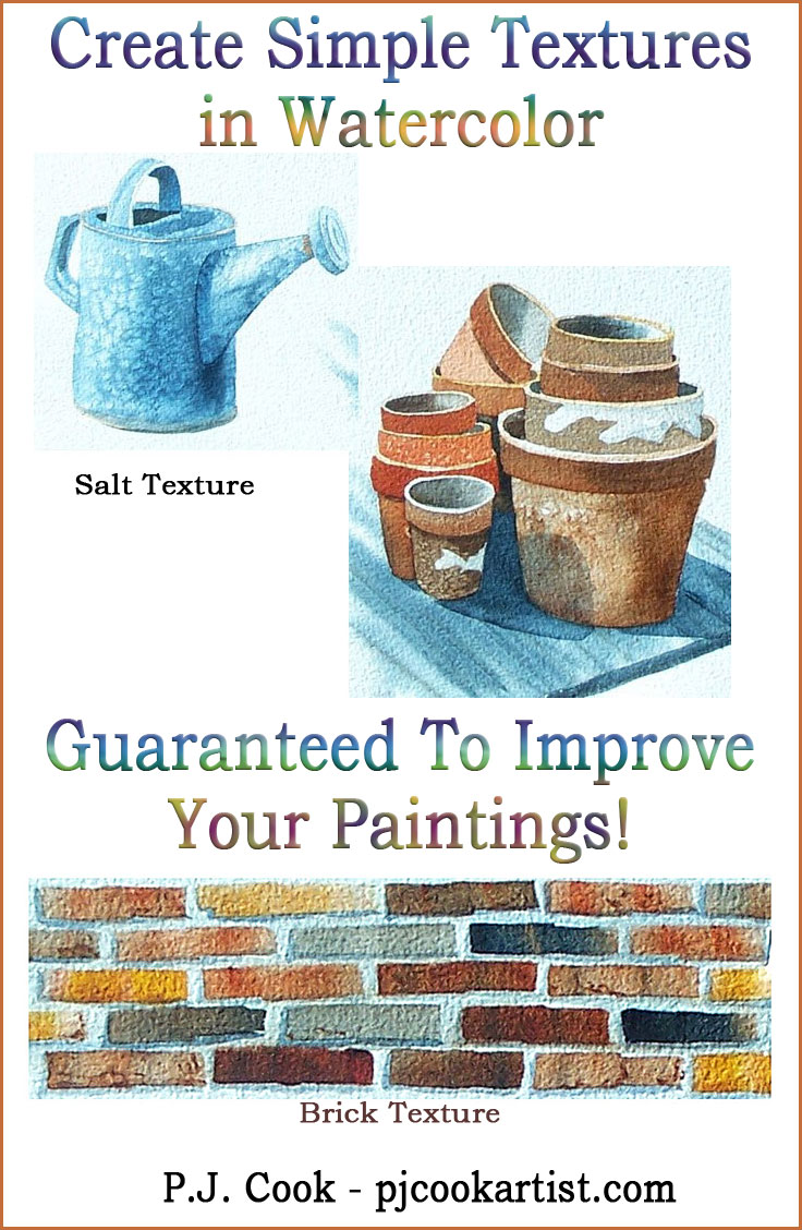 Creating Textures in Watercolor – Guaranteed to Improve Your Paintings!