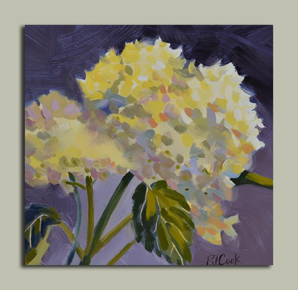 Hydrangea Flowers Painting