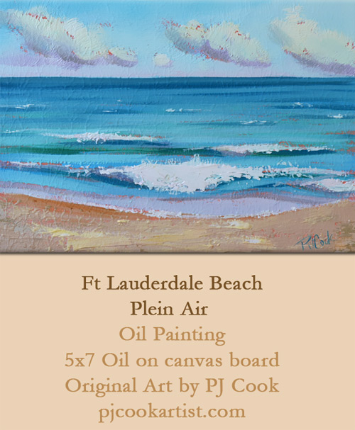 Plein Air Painting Ft Lauderdale Beach