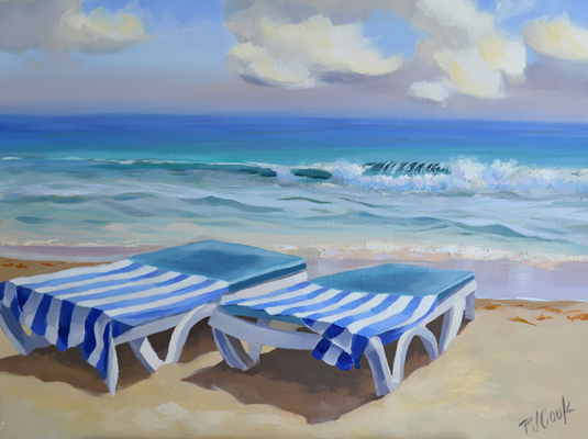 "How to Relax ""Sunbathe"" Beach Scene Painting"