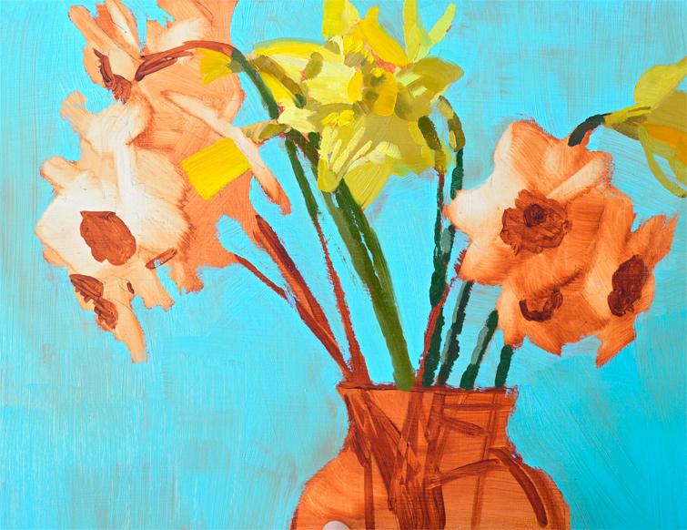 daffodils-blue-vase-c