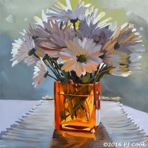 Morning Daisies Oil Painting Pj Cook Artist Studio