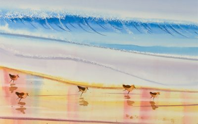 How to Paint Ocean Waves Using Wax Resist