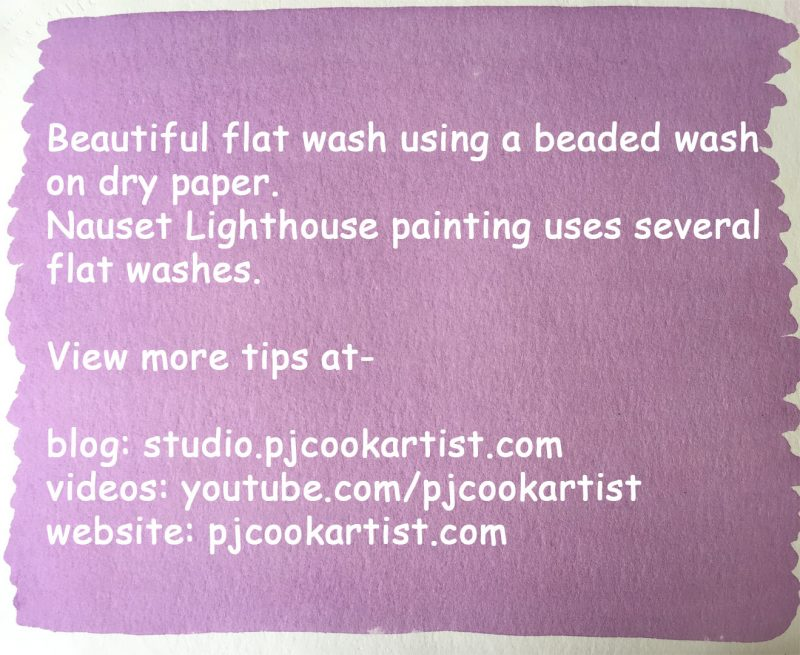 lern how to paint a flat wash with this watercolor tutorial.