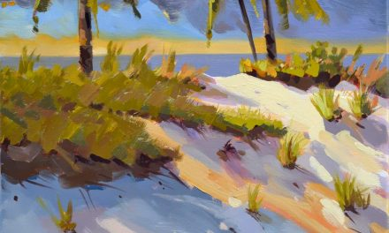 Beach Dune Energy Oil Painting