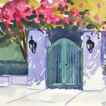 Using a Plein Air Sketch for a Pretty Gate Painting