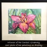 Watercolor Flower Contest Giveaway Update