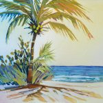 Palm View Ocean Painting