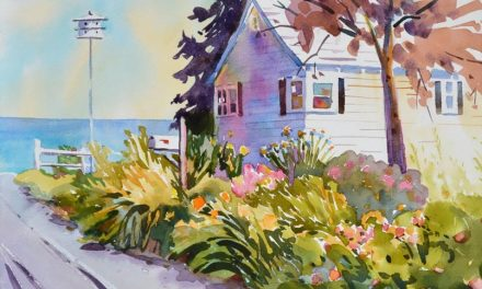 Painting a Garden Splendor Watercolor