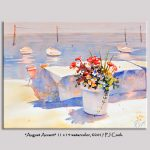 August Accent Seaside Flowers