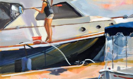 All In a Day's Work Marine Art Painting