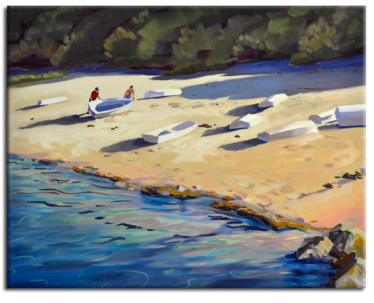 One More Day on the Water oil painting by PJ Cook