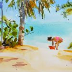 Shell Seeker Key West Beach Painting