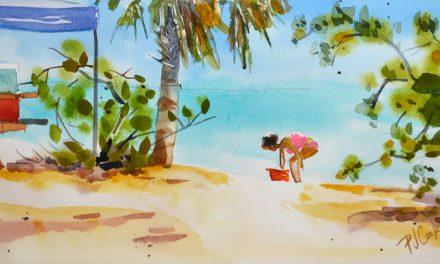 Shell Seeker Key West Beach Painting