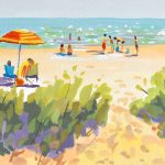 Beachscape Painting from the Waters-edge