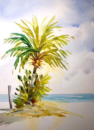 "New video coming out""How to Paint a Palm Tree"". All kinds of painting tips and techniques in this one."