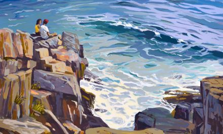 Ocean Sounds Oil Painting