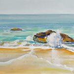 gouache beach painting