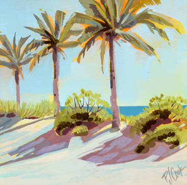 Time-Lapse Video Palm Tree Sand Dune Painting