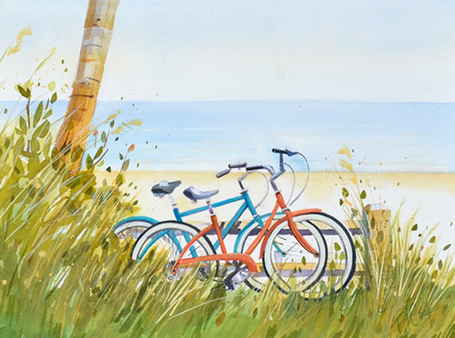 A Beach Cruiser kind of day painting