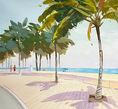 How to Paint Palm Trees