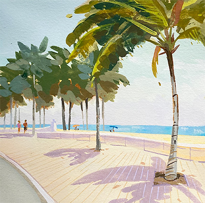 Ft Lauderdale Beach painting