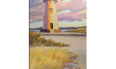 Edgartown Lighthouse oil on canvas