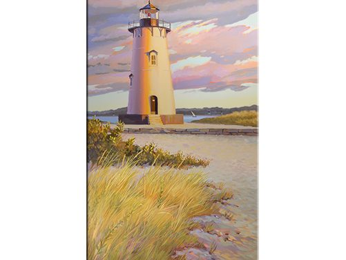 Edgartown Lighthouse oil on canvas