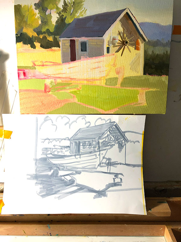 oil painting step by step foreground